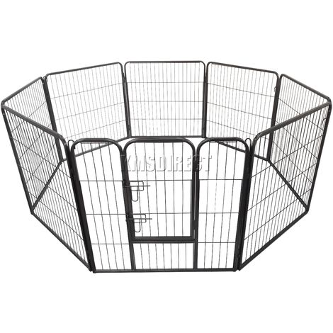 Heavy Duty Pet Playpen MPP-01XL Hammered Silver