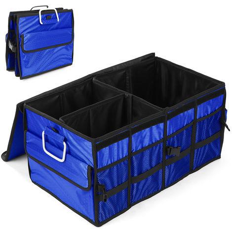 Heavy Duty Pique-Nique Alimentaire Porte Pliable Coffre Organisateur Transporteur Cargo Pliable Boite De Rangement Des Conteneurs, Bleu
