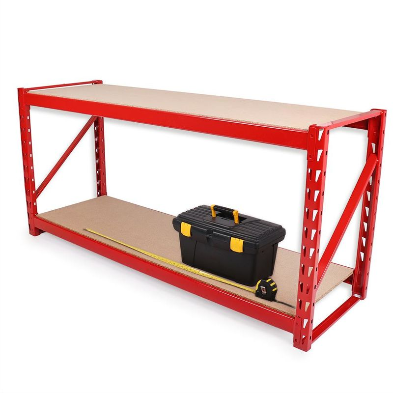 VonHaus Workbench Table Boltless Worktable Metal Shelving Storage Racking Massive 500Kg Capacity