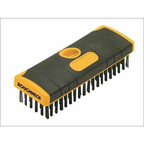 Heavy-Duty Scrub Brush Soft-Grip 200mm (8in) NO Handle (ROU52060)