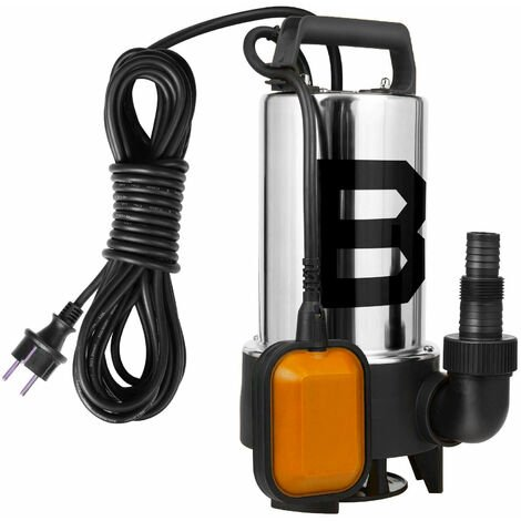 Heavy Duty Stainless Steel 550W 230V Electric Submersible Dirty & Clean Water Pump with Float Switch & Hose Connector