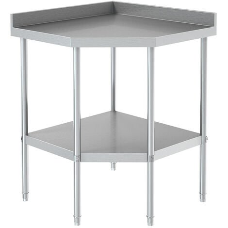 Heavy Duty Stainless Steel Catering Corner Unit Table Kitchen Food Prep Worktop