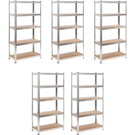 Heavy-duty Storage Rack 5 pcs - Brown