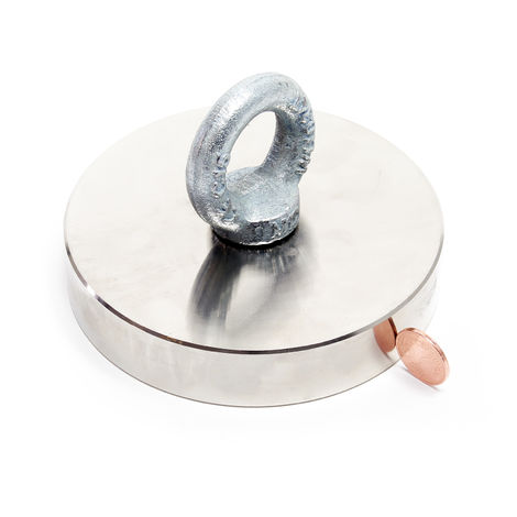Heavy Duty Strong Neodymium Fishing Magnet Eyebolt Object Recovery up to 600 kg Adhesive Force
