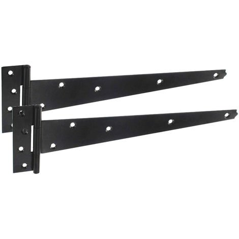 Heavy Duty Tee Hinges for Garden Gates with Epoxy Black Finish 450mm H0218TB