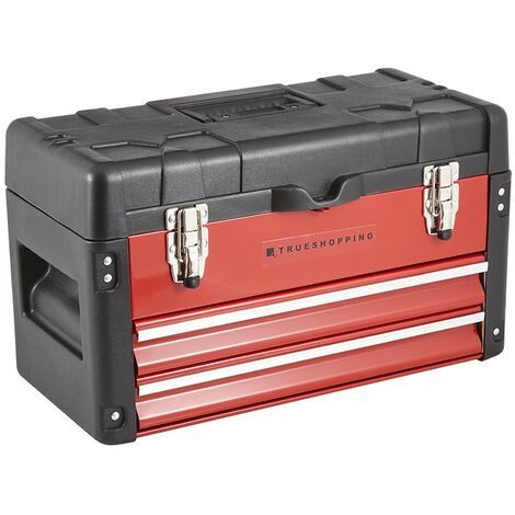 Heavy Duty Topchest Tool Box Chest with 2 Additional Storage Drawers