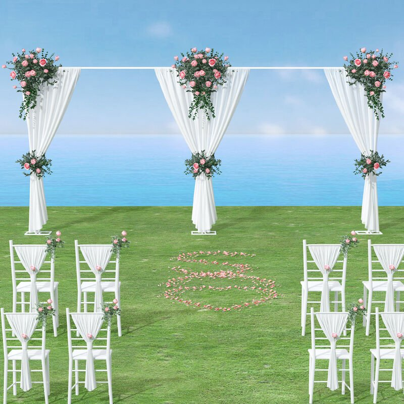 Image of Heavy Duty Wedding Backdrop Stand Party Background Drape Support Adjustable Kit