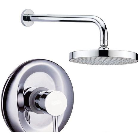 Heavy Quality Round Concealed Shower Valve Mixer Tap, Wall Arm &Head Set (SH053)