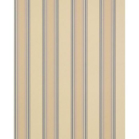 Heavyweight stripe wallpaper wall EDEM 827-23 deep embossed beige cream pastel-lilac 75 sq feet