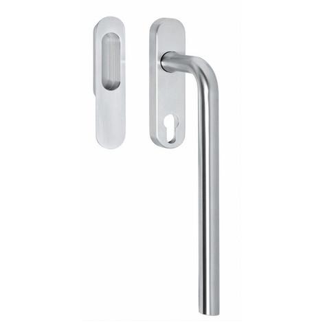 Hebe-/Schiebetürbeschlag L-Form mit Profilzylinder