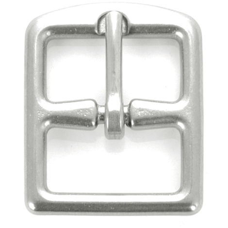 Hebilla plateada para soportes de acero Umbria Equitazione