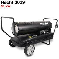 Hecht 3039 Diesel canon à chaleur Chauffage à l'huile 51kW 50Hz 50L Consommation 5L/h 26,2kg