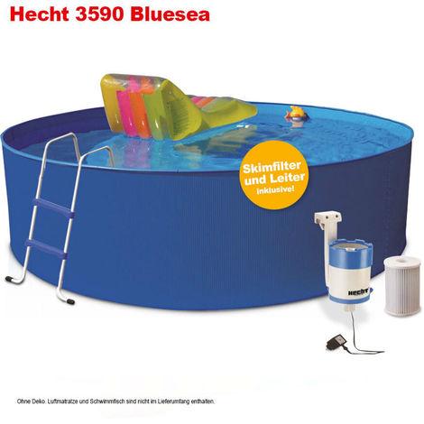 Hecht 3590 Bluesea Pool mit Zubehör Stahlwandbecken Rund Pool