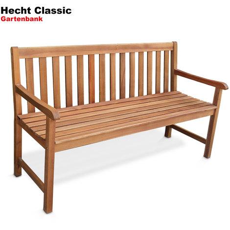 Super Hecht Classic Gartenbank Gartenmöbel Bank Parkbank Sitzbank Holz RQ41
