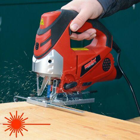Hecht jardin 1569 Scie sauteuse pendulaire professionnelle 810 W LED Luminaire et ligne de coupe laser