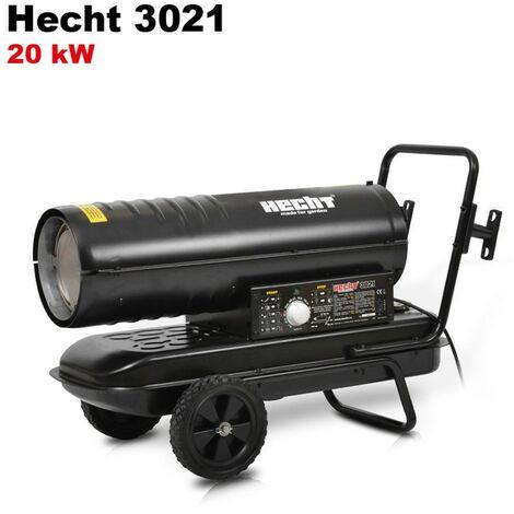 Hecht jardin 3021 Diesel canon à chaleur Chauffage à l'huile chauffage 20kW 50Hz 19L Consommation 2L/h 18,2kg