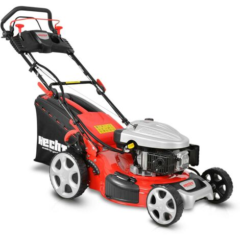 Hecht jardin 5534 SWE Tondeuse à gazon essence 5EN1 4temps bac 60L 7 hauteur de coupe 25-75mm largeur de coupe