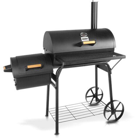 Hecht jardin SENTINEL Barbecue a charbon Smoker de luxe 126 x 72 x 138 cm / Surface du gril de 62 x 24,5 cm BB LOISIR