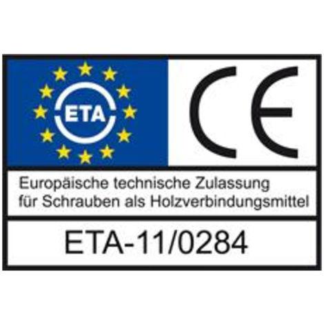 HECO-TOPIX Holzbauschraube Senkkopf  8.0x240 TG TX40 verzinkt mit Bewertung