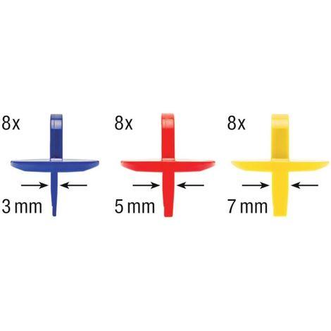 HECO-traversaño 3-5-7mm - 24 unidades