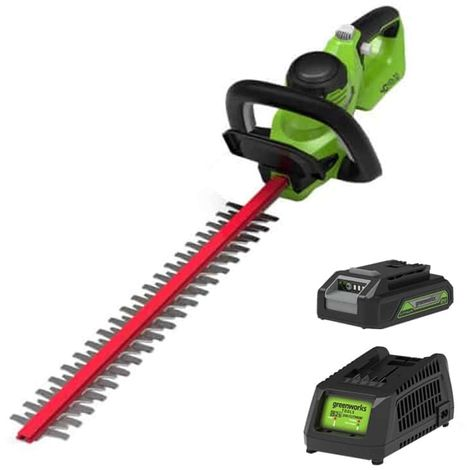 Hedge trimmer 61 cm GREENWORKS 40V - 1 battery 2.0 Ah - 1 charger - G40HT61K2