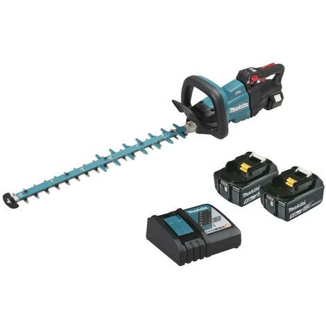 Hedge trimmer MAKITA 18V - 2 batteries 5.0Ah BL1850B - 1 fast charger DC18RC 60cm DUH602RT2