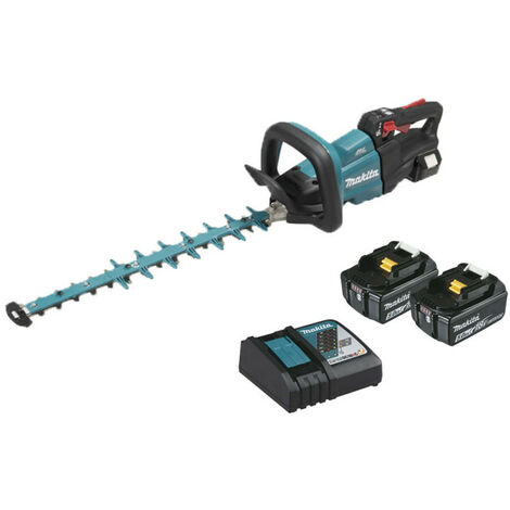 Hedge trimmer MAKITA 18V - 2 batteries BL1850B 5.0Ah - 1 fast charger DC18RC 50cm DUH502RT2