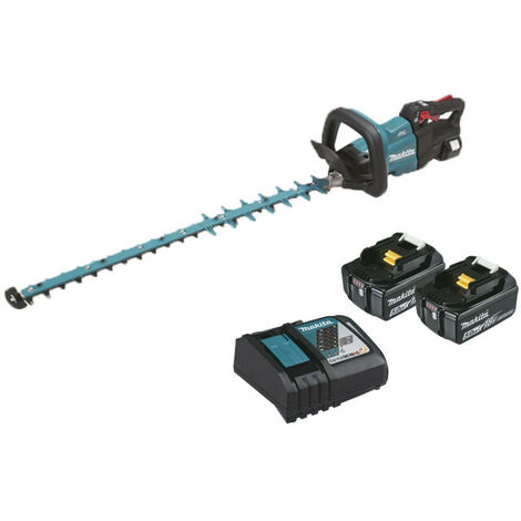 Hedge trimmer MAKITA 18V - 2 batteries BL1850B 5.0AH - 1 fast charger DC18RC 75cm DUH752RT2