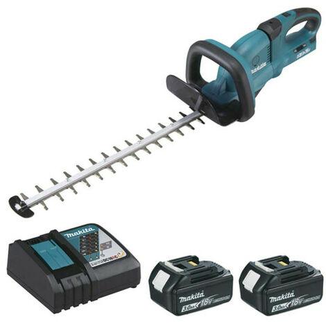 Hedge trimmer MAKITA 36V - 2 batteries 18V 3.0Ah - 1 fast charger DC18RC DUH551RF2