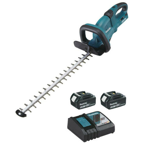 Hedge trimmer MAKITA 36V - 2 batteries 18V 3.0Ah - 1 fast charger DC18RC DUH651RF2