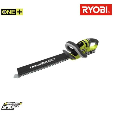 Hedge trimmers RYOBI 18V OnePlus LithiumPlus 1 battery 2.5Ah - 1 charger RHT1851R25F