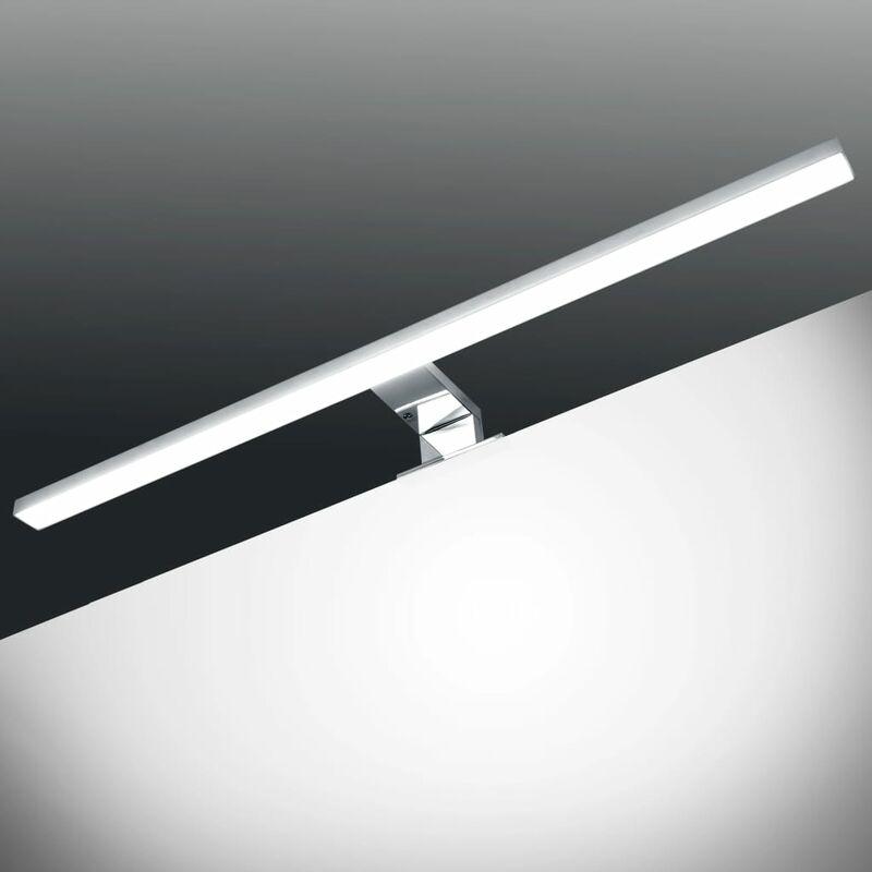Image of Heffernan LED 1 Light Mirror Light by Silver - Brayden Studio