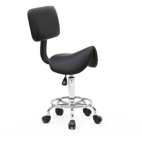 Height Adjustable Swivel Cuban Bar Stool With Backrest