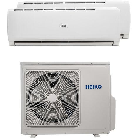 HEIKO Multisplit Wandgerät 1 x 2,6 kW + 1 x 5,0 kW Duo Set EEK: A++/A
