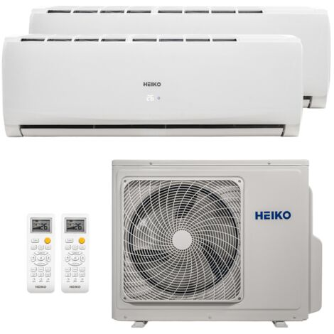HEIKO Multisplit Wandgerät 1 x 3,5 kW + 1 x 5,0 kW Duo Set EEK: A++/A