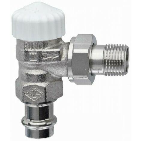 Heimeier Thermostat-Ventilunterteil V-exakt II, Eckform, ViegaPress 15mm