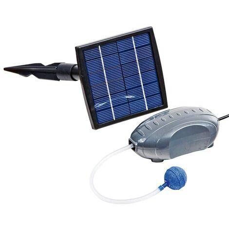 HEISSNER Juego de bomba de aire y panel solar 120 L/h