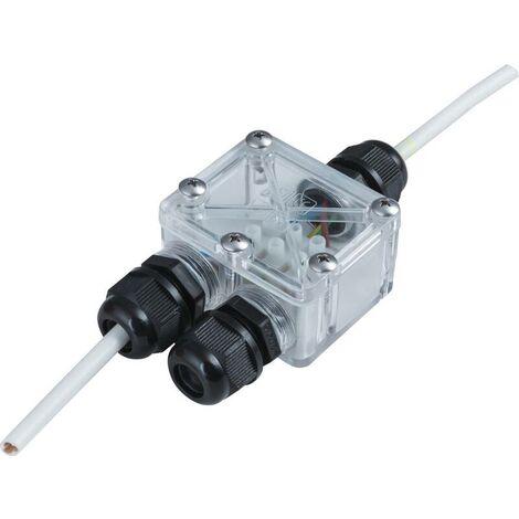 Heitronic 21041 2fach Verteiler 230V 4cm Transparent Y081571