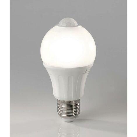 Heitronic Ampoule LED avec détecteur de mouvement - 6 Watt, E27, blanc chaud