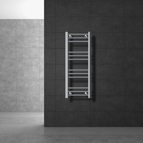 Heizkörper Badheizkörper ECD Germany Modell Sahara 400 x 700 mm chrom gerade mit Seitenanschluss Handtuchhalter