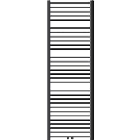 Heizkörper Badheizkörper ECD Germany Modell Sahara 600 x 1800 mm anthrazit gebogen mit Mittelanschluss Handtuchhalter