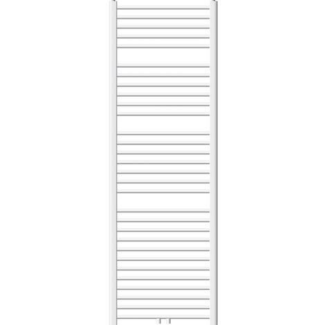 Heizkörper Badheizkörper ECD Germany Modell Sahara 600 x 1800 mm weiss gerade mit Mittelanschluss Handtuchhalter