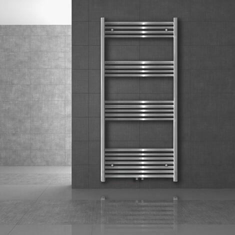 Heizkörper Badheizkörper Handtuchwärmer 500 x 1100 mm Chrom gebogen mit Mittelanschluss