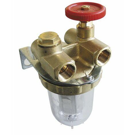 """Heizölfilter - OVENTROP Zwei Leitungen mit Absperrhahn IG3/8"""" mit Anschluss - OVENTROP : 2120103"""