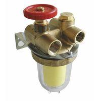 """Heizölfilter - Zwei Leitungen mit Absperrhahn IG1/2"""" Sieb Siku - OVENTROP : 2120261+2127500"""
