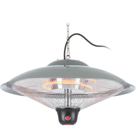 """main image of """"Heizsporn Ceiling Heater 60.5 cm LED Lamp Remote Control Silver"""""""