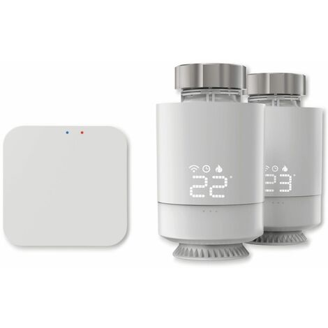 Heizungssteuerung HAMA Starter-Set, WLAN, 2x Heizkörperthermostat + Zentrale