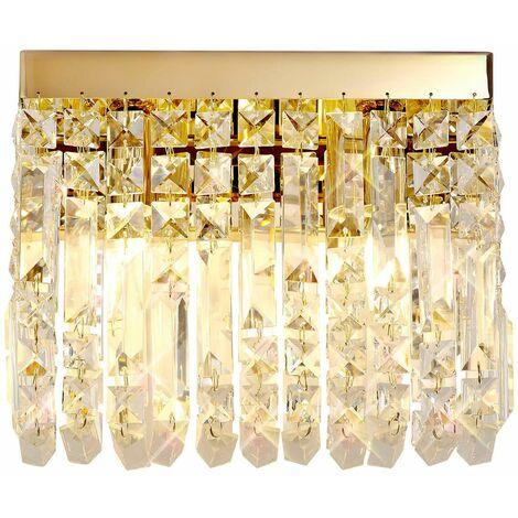 Hektor Crystal Wall Lamp 2 Bulbs Gold 9 Cm