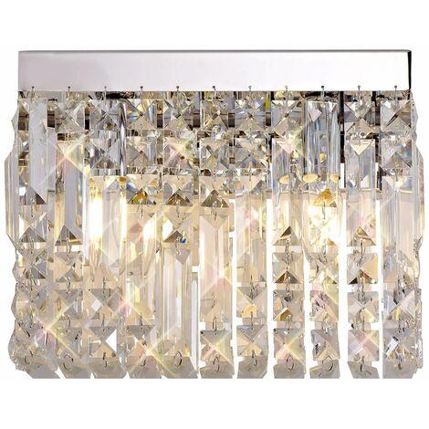 Hektor Crystal Wall Lamp 2 Bulbs Polished Chrome 12 Cm