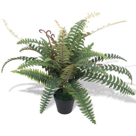 Helecho artificial con macetero 60 cm verde